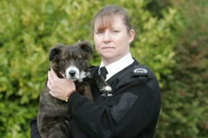 Inspector Janet Proudlock with puppy PIC: SSPCA