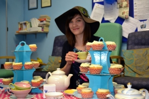 EVERYTHING STOPS FOR TEA: Louise Liddell gets the party started!