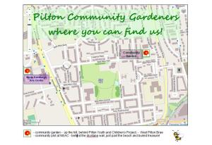 Pilton Community Gardeners - map