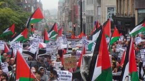 GAZA: Thousands took to the Glasgow streets to protest on Saturday