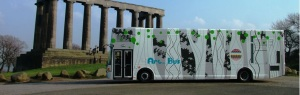 The Travelling Gallery at Calton Hill Edinburgh