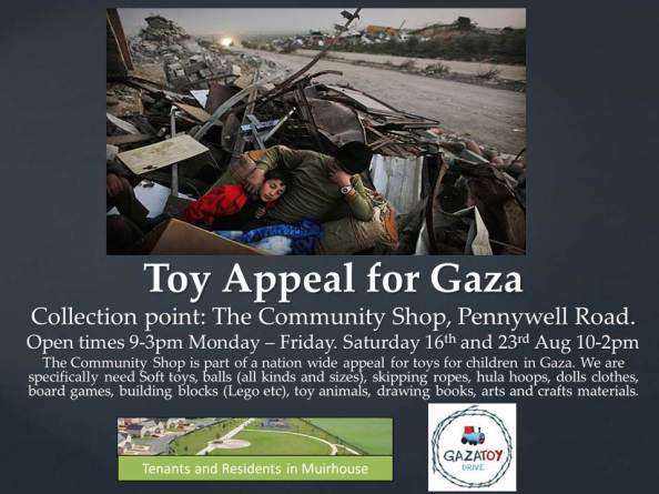 gaza toy appeal poster