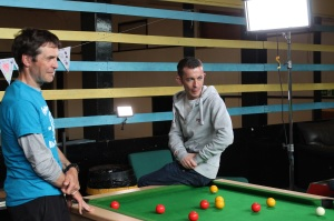 Mark Foster (fetlor) with Paul Brannigan