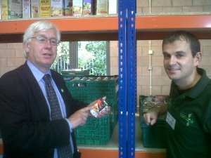 Mark Lazarowicz MP at Edinburgh Food Project open day - 29 August 2014