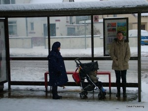 A bus shelter (just in case you don't know what a bus shelter looks like!) This one's in Crewe Road North