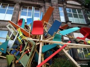 striking sculpture at Summerhall